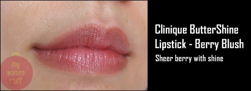 cliniquebutter2 Day 22 : Clinique Buttershine Lipstick   Berry Blush