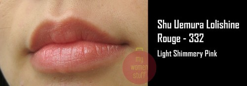 shu lolishine21 Day 8 : Shu Uemura Lolishine Lipstick #332