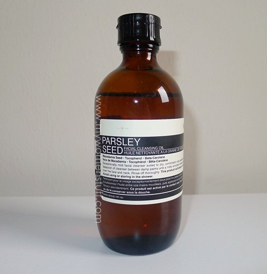 aesop parsley cleansing oil The Aesop Parsley Seed Facial Cleansing Oil has a moral to this fable
