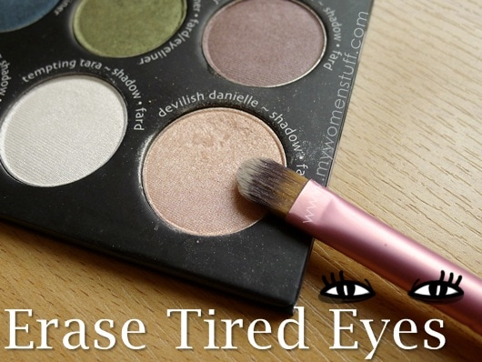 tired eyes Tip: Makeup to help tired eyes look less tired