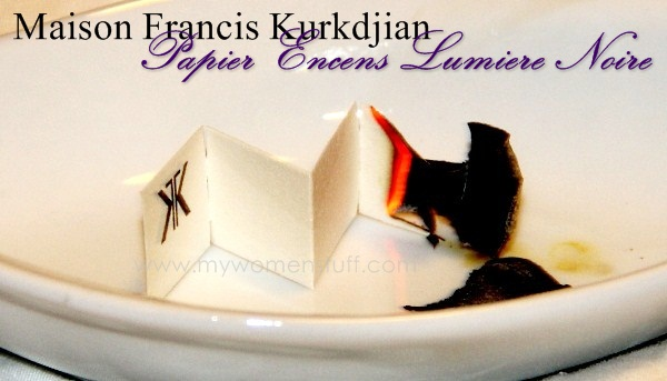 MFK incense paper Fragrance you can burn: Maison Francis Kurkdjian Incense Paper in Lumiere Noire