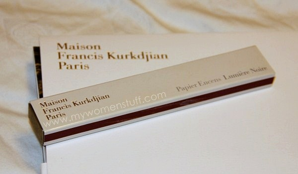 MFK incense paper2 Fragrance you can burn: Maison Francis Kurkdjian Incense Paper in Lumiere Noire