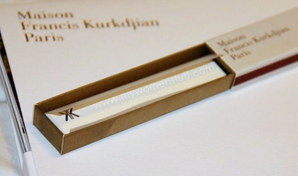 MFK incense paper3 Fragrance you can burn: Maison Francis Kurkdjian Incense Paper in Lumiere Noire