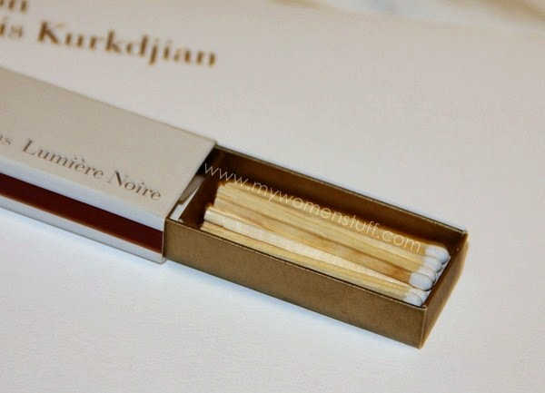 MFK incense paper4 Fragrance you can burn: Maison Francis Kurkdjian Incense Paper in Lumiere Noire