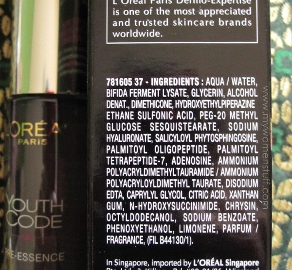 loreal youth code preessence3 LOreal Youth Code Pre Essence : The Review to tell you if it unlocks the code of youth
