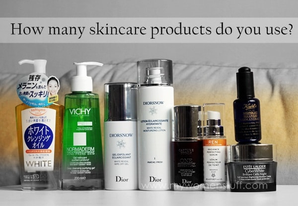 skincare products Your Say: How many products do you use as part of your daily skincare routine?