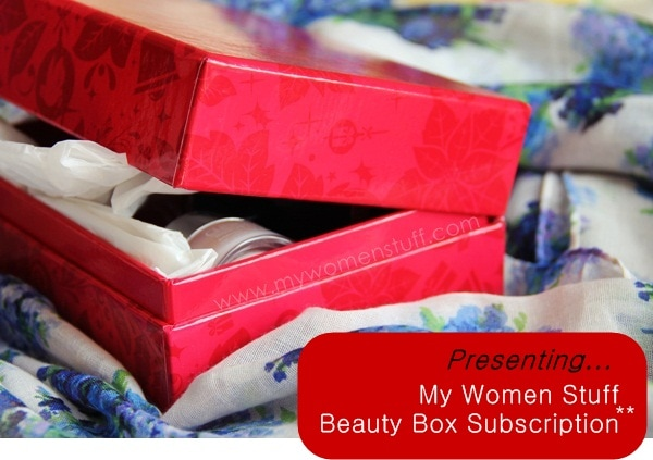 beauty bloggers box1 My Women Stuff Beauty Box Subscription: The introductory box