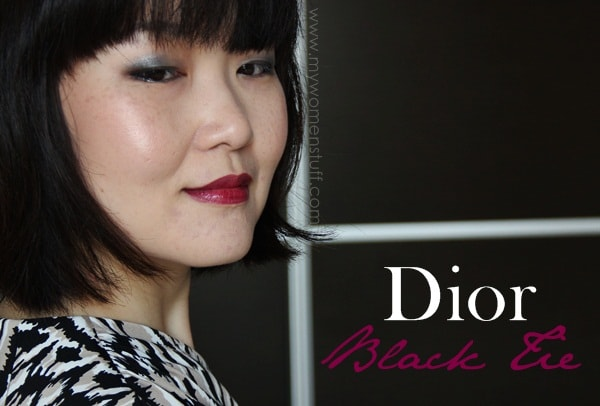 dior black tie4 You dont need a black tie event to wear the Dior Addict Extreme Black Tie lipstick, It works for all occasions