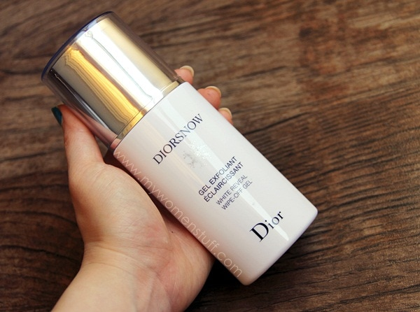 diorsnow wipe off gel2 Diorsnow White Reveal Wipe Off Gel : An exfoliator without all the scrubby bits