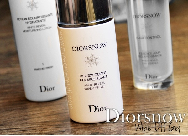 diorsnow wipe off gel5 Diorsnow White Reveal Wipe Off Gel : An exfoliator without all the scrubby bits