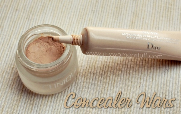 clinique even better diorskin nude concealer Concealer Wars : Clinique Even Better concealer vs Diorskin Nude Hydrating concealer