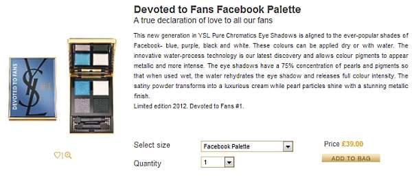 ysl facebook Is the YSL x Facebook Devoted to Fans Eyeshadow Palette truly unique and limited edition? How did I end up with one?
