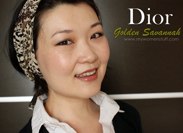 dior golden savannah2 The Dior Golden Savannah palette brings out the animal in you! (with Copper Brown Serum for good effect)