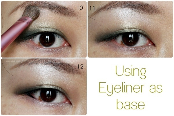 eyeshadow tute3 Tip and How To: Using Eyeliner as an Eyeshadow Base