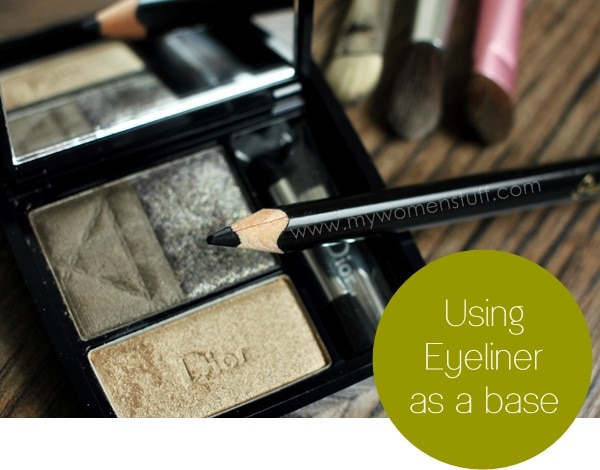 eyeshadow tute4 Tip and How To: Using Eyeliner as an Eyeshadow Base