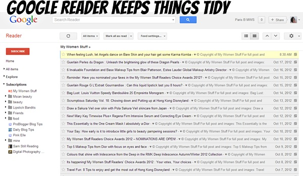google reader MWS Blog Housekeeping Bulletin Including Readers Choice Awards 2012 and Celebrate October Giveaway Updates