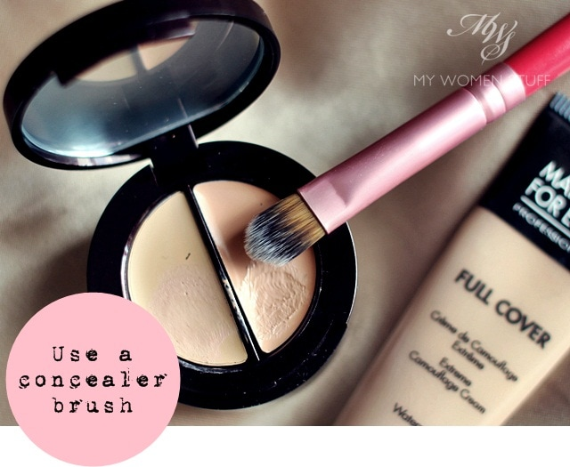 concealer brush Tip: Use a Concealer Brush to apply concealer for a more natural finish