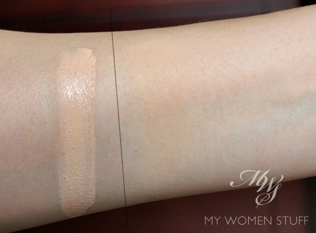 burberry velvet foundation swatch2 The Burberry Velvet Foundation is very promising on paper but falls short on delivery