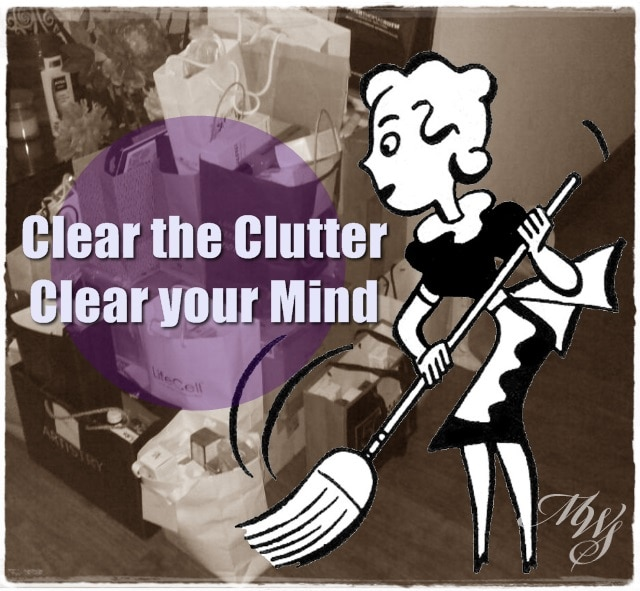 clear clutter Life Tip: Clear your clutter to clear your mind and get back in control